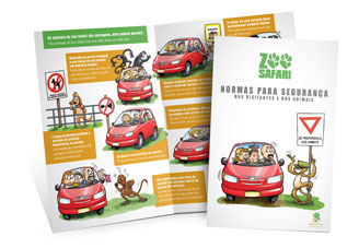 Sao Paulo Zoo -Safety Rules for Visiting- brochure mock-up