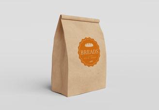 Breads logo application mock-up