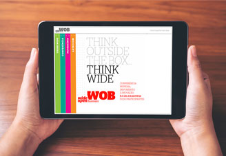 WOB web site mock-up