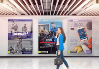 Centennial College posters mock-up